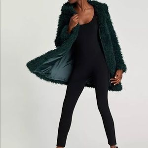 9d1a45aa Zara Jackets & Coats | Bnwt Fluffy Jacket Bottle Green | Poshmark